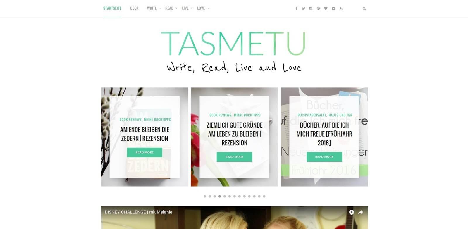 Tasmetu Blogempfehlung