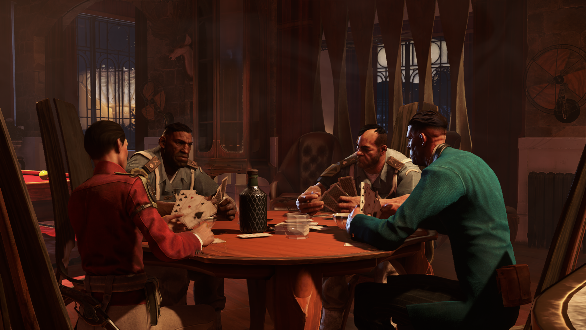 Weltenbau Dishonored 2 NPC Kartenspiel