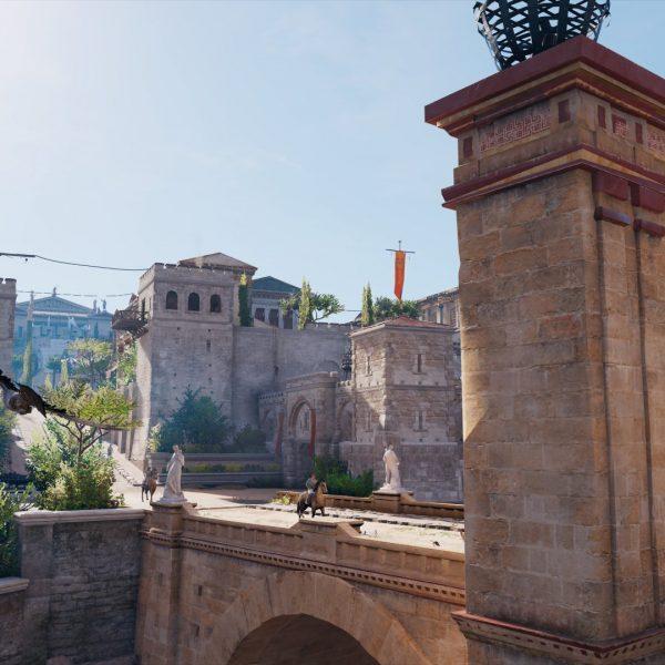 """Grüße aus Alexandria! - In """"Assassin's Creed: Origins"""" mutiere ich Dank Fotomodus zur Klischee-Touristin (Quelle: Assassin Creed: Origins, Ubisoft)"""