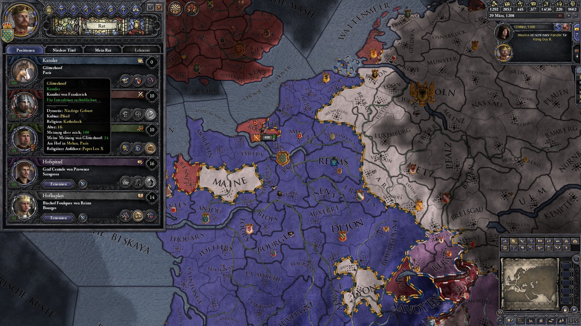 Pferd Kanzler Crusader Kings 2