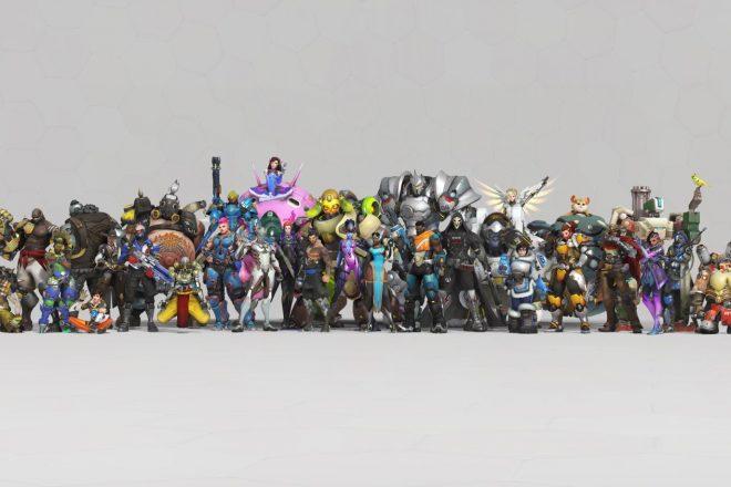 Alle bisherigen Held*innen von Overwatch (Quelle: https://blizzard.gamespress.com/de/Overwatch)
