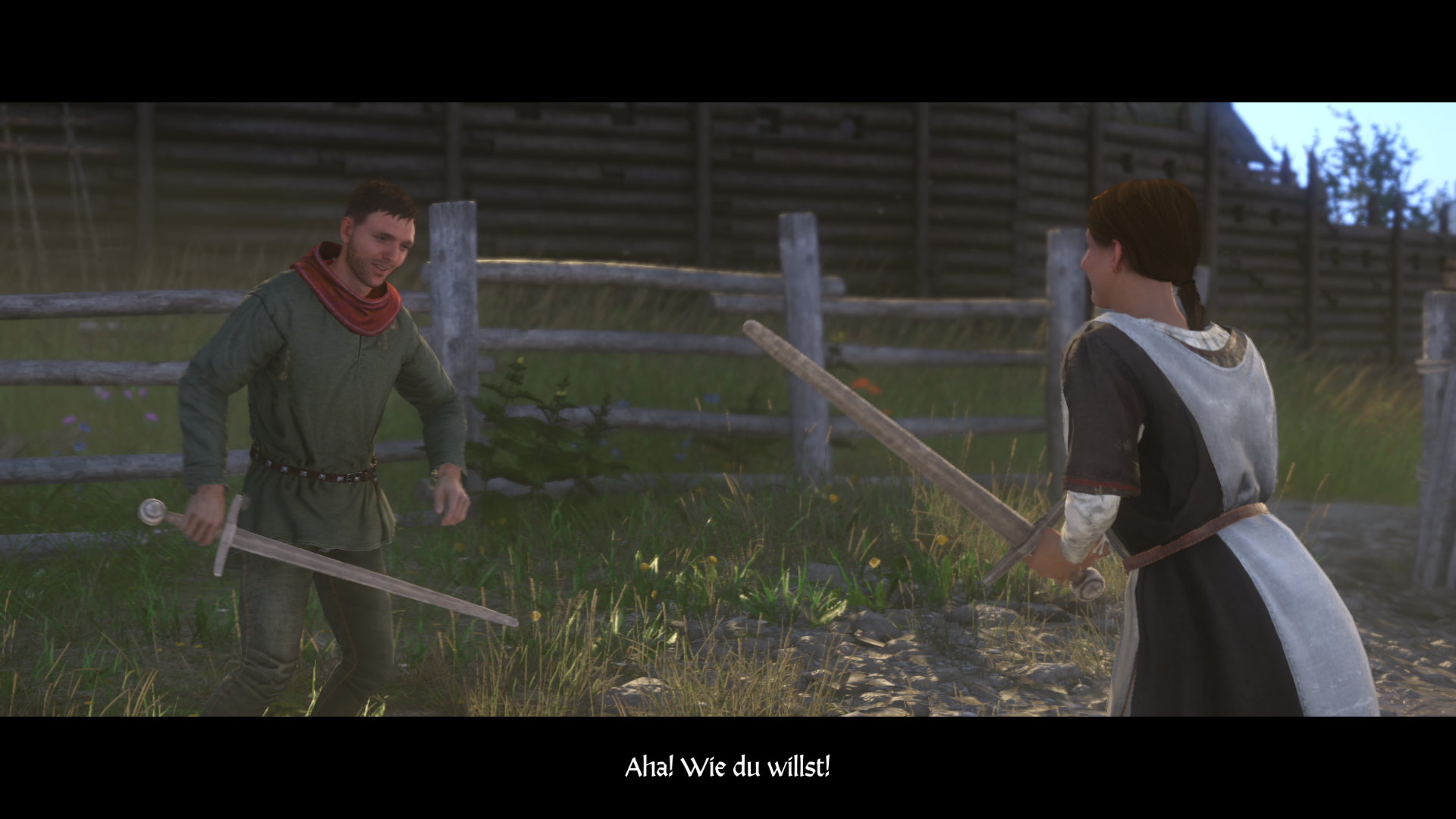 Kingdom Come: Deliverance - Theresa und Heinrich kämpfen zum Training